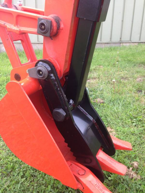 Kubota Bx25d Tractor Mechanical Backhoe Thumb