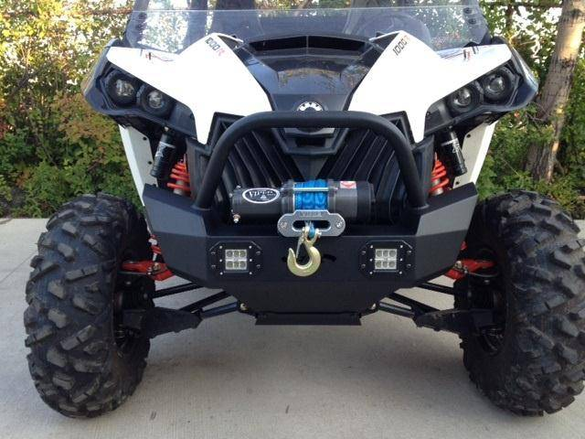 Maverick Front Bumper Brush Guard With Winch Mount With