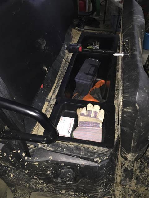 Mid Size Polaris Ranger Under Seat Storage Bin Set Fits