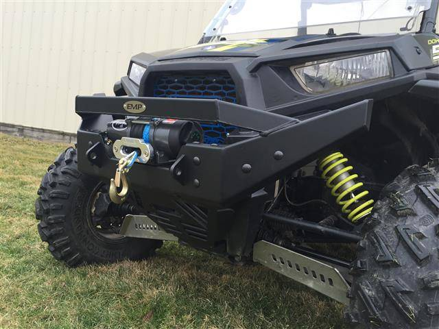 Rzr Nitro Front Bumper Brush Guard With Winch Mount