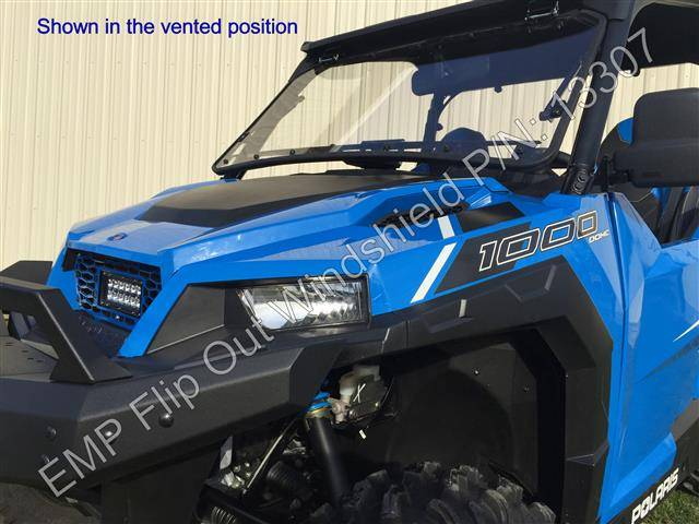 polaris general flip  windshield
