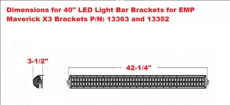 F143839140 can am maverick x3 led light bar bracket set