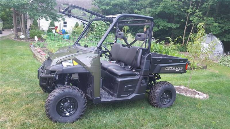 Full Size Polaris Ranger Flip Up Windshield