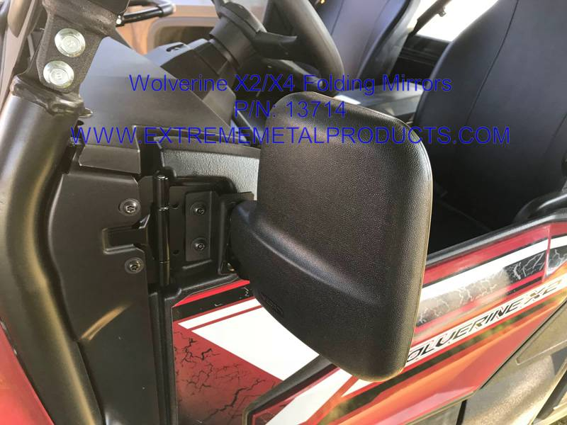 Yamaha Wolverine X2 X4 Folding Side Mirrors
