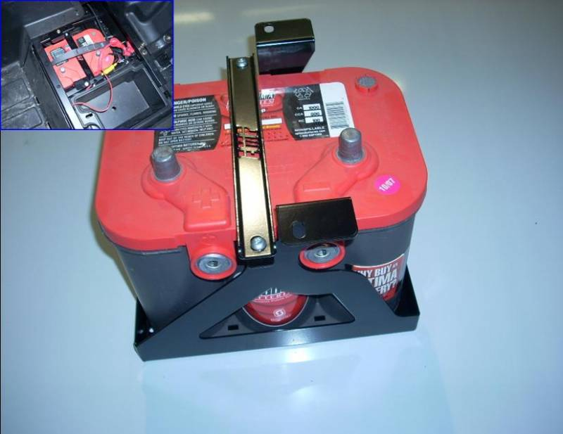Field Full Size Battery Box : Rzr battery tray