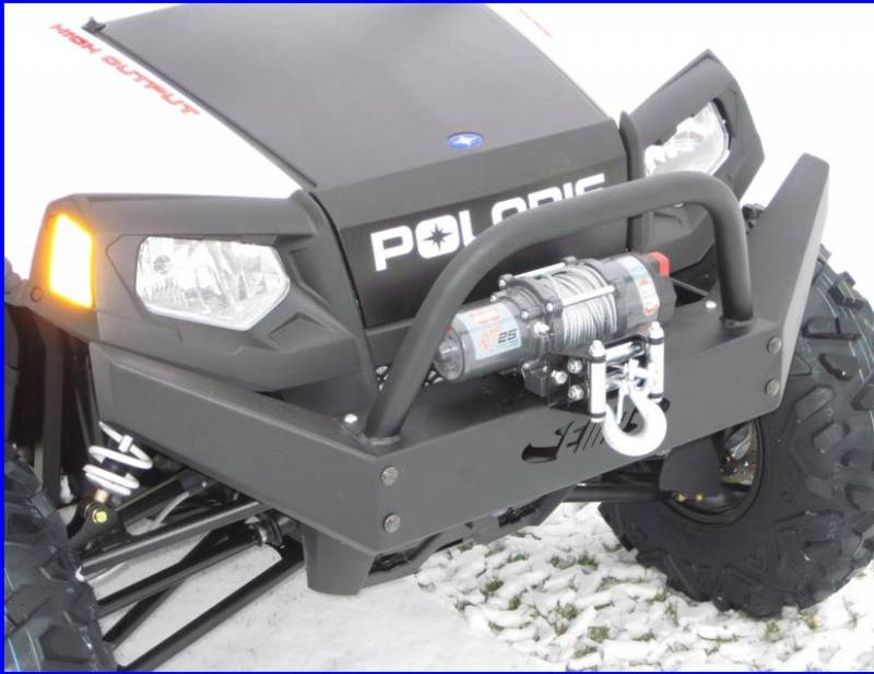 rzr extreme front bumper brush guard  winch mount