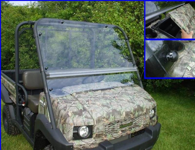 mule 4010 flip up windshield (hard coated on both sides)