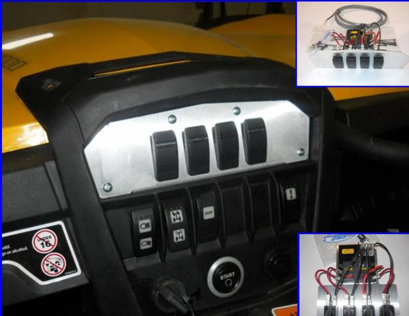 "Can Am Outlander 1000 Xmr >> Maverick and Commander ""Command Center"" with a Fuse Block and (4) Illuminated Switches"