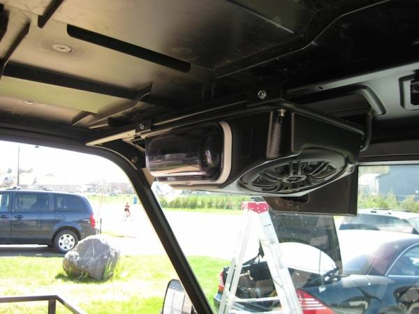 "John Deere Gator >> Ranger Overhead Stereo Pod (fits: Full Size Rangers with Pro-Fit Cages, 60"" wide models)"
