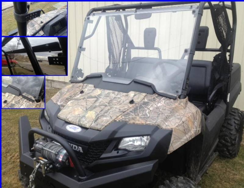Pioneer 700 Hard Coated Full Windshield