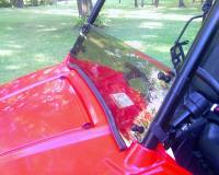 Extreme Metal Products, LLC - RZR Tinted Half Windshield / Wind Deflector