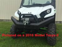Extreme Metal Products, LLC - Teryx and Teryx4 Front Bumper / Brush Guard with Winch Mount
