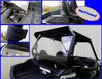Extreme Metal Products, LLC - 2015-17 RZR 900 and RZR-S 1000 Hard Coated Cab Back / Dust Stopper