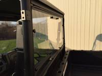Extreme Metal Products, LLC - 2015-21 Mid-Size Polaris Ranger Hard Coated Cab Back/Rear Dust Stopper (fits: stock PRO-FIT cage)