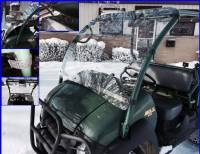 Extreme Metal Products, LLC - Kawasaki MULE 610 and SX Windshield (Hard Coated Polycarbonate)