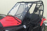 Extreme Metal Products, LLC - Pioneer 500 Hard Coat Windshield with Fast Straps