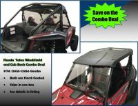 Extreme Metal Products, LLC - Honda Talon Windshield and Cab Back/Dust Stopper Combo Deal (Hard Coated on Both Sides) (Two Items in Combo)