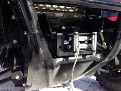 Extreme Metal Products, LLC - Pioneer 700 Winch Mount - Image 1