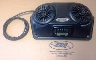 Slim UTV Overhead Stereo Pods with stereo and wiring - Image 1