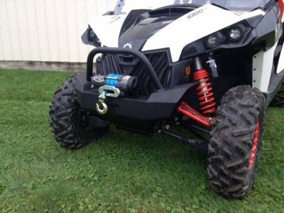 Extreme Metal Products, LLC - Maverick Front Bumper/ Brush Guard with Winch Mount
