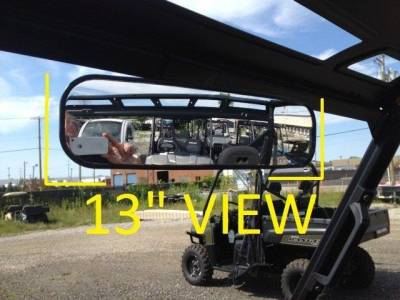 """Extreme Metal Products, LLC - 2015-2016 Ranger 13"""" Panoramic Mirror/Ranger XP900  (with Pro-Fit Cage)"""