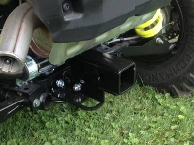 "Extreme Metal Products, LLC - 2015-18 RZR 900 and 2016-18 RZR-S 1000 Rear 2"" Square Receiver Hitch - Image 1"