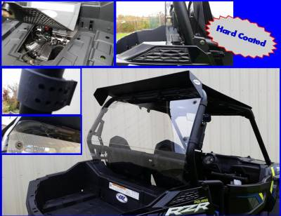 Extreme Metal Products, LLC - RZR 900 and RZR-S 1000 Hard Coated Cab Back / Dust Stopper - Image 1