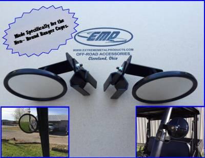 Extreme Metal Products, LLC - Polaris Ranger Side Mirrors - Image 1