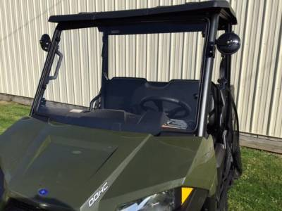 Extreme Metal Products, LLC - 2015-21 Mid-Size/2-Seat Polaris Ranger Hard Coated Windshield - Image 1