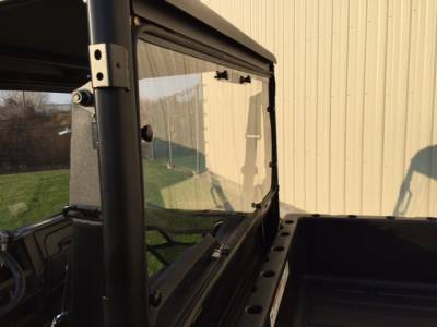 Extreme Metal Products, LLC - 2015-19 Mid-Size Polaris Ranger Hard Coated Cab Back/Rear Dust Stopper (fits: stock PRO-FIT cage) - Image 1