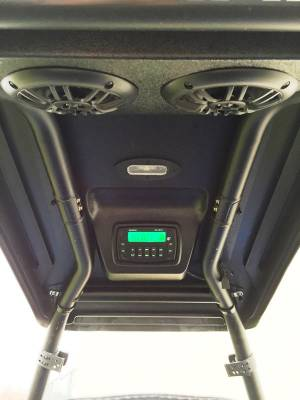 "Extreme Metal Products, LLC - Polaris ACE ""Cooter Brown"" Top and Overhead Stereo Combo"