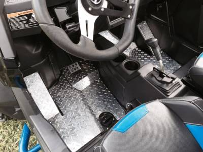 Extreme Metal Products, LLC - RZR 900 Diamond Plate Floor Boards