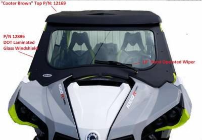 Extreme Metal Products, LLC - Can-Am Maverick Laminated Glass Windshield