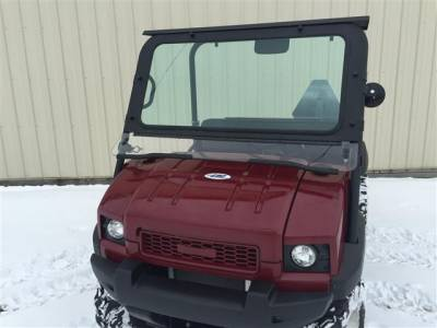 Extreme Metal Products, LLC - Kawasaki MULE 4010 Laminated Glass Windshield - Image 1