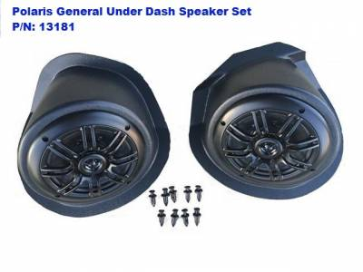 Extreme Metal Products, LLC - Polaris General Under-Dash Speaker Pods (Speakers Included) - Image 1