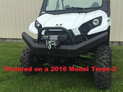 Extreme Metal Products, LLC - Teryx and Teryx4 Front Bumper / Brush Guard with Winch Mount - Image 1