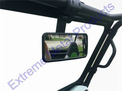 "Extreme Metal Products, LLC - Smack Back Buggy Mirror-Rectangle 8"" x 4"" - Image 1"