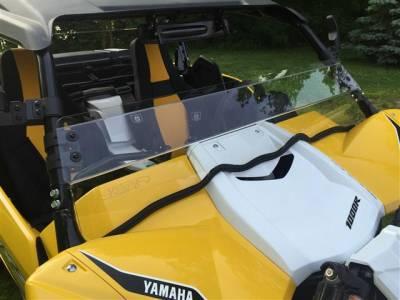 Extreme Metal Products, LLC - Yamaha YXZ Hard Coated Half Windshield - Image 1
