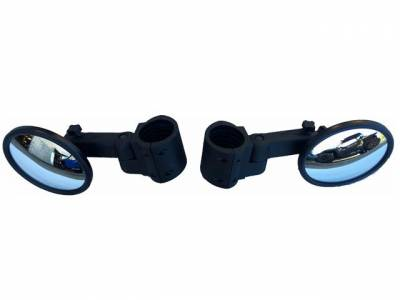 """Extreme Metal Products, LLC - (Pair) of Smack Back Buggy Mirrors-Round 5-1/2"""" Diameter Convex (Two Per Set)"""