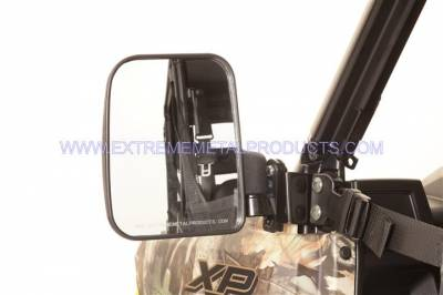 Extreme Metal Products, LLC - Polaris Ranger Folding Mirror set for the PRO-FIT Cage (non-round cage)