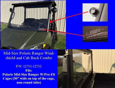 Extreme Metal Products, LLC - Mid-Size Ranger Windshield & Cab Back Combo - Image 1