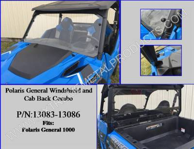 Extreme Metal Products, LLC - Polaris General Windshield & Cab Back Combo