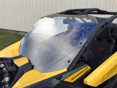 Extreme Metal Products, LLC - Can-Am Maverick X3 Hard Coated Windshield w/Fast Straps