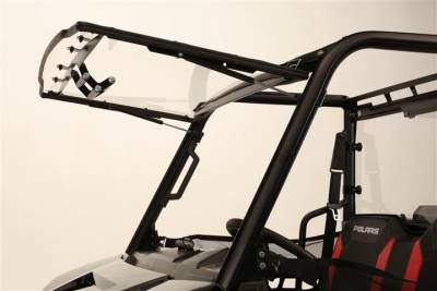 Extreme Metal Products, LLC - Mid-Size/2 Seat Polaris Ranger Flip-up Windshield - Image 1