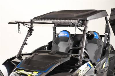 Extreme Metal Products, LLC - Flip Up windshield for RZR 2014-2018 XP1K, 2015-21 RZR 900, and 2016-18 RZR 1000-S - Image 1