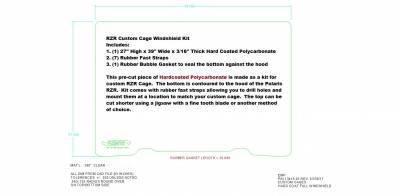 RZR Custom Cage Windshield Kit - Image 1