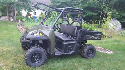 Extreme Metal Products, LLC - Full Size Polaris Ranger Flip-Up Windshield