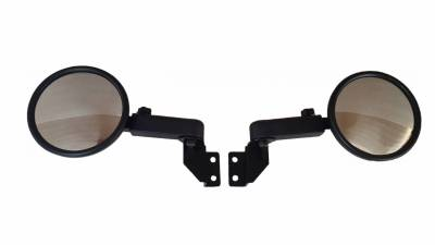 Extreme Metal Products, LLC - Polaris Ranger Smack Back Mirrors for PRO-FIT Cages  Set (pick your mirror size)