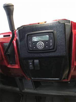 Extreme Metal Products, LLC - Polaris Ranger In-Dash Stereo Panel with Stereo (Pick your Stereo from Drop Down)