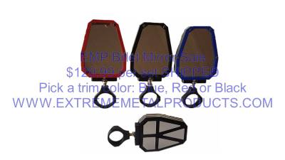 Extreme Metal Products, LLC - RZR Billet Mirror Set